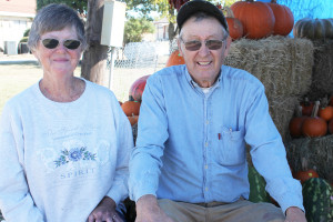 "Patsy and Richard Goodwin are the official ""pumpkin providers"" for 5 Star Farms in Farmersville, a locally owned and family ran farm. Pumpkins can be found on Hwy. 78 next to The Brownie Cottage."