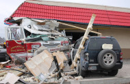 Fire engine crashes into Dairy Queen