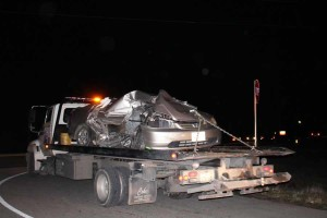 A Honda was involved in a collision that killed two.