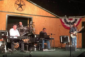 The Main Street Music Hall band plays during a tornado benefit concert Feb. 13.