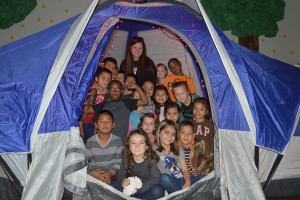 Amy Moore's class enjoys reading all about camping.