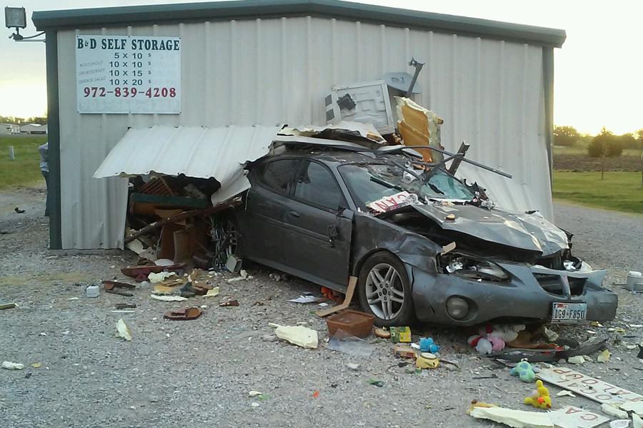 Drive-thru chaos causes damage