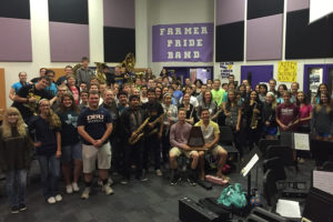 The Farmersville High School Band recently received the Sweepstakes Award for their third consecutive year.