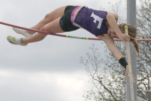 Chloe Wall finished in first place in the pole vault with a height of 12-07 during the April 29-30 Class 3A Region II meet at Whitehouse's Wildcat Stadium.