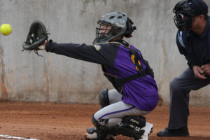 Despite missing a portion of District 13-3A competition, freshman catcher Callie Yellin was named to the District 13-3A first-team for 2016. See the full story on page 4B.