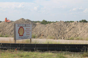 A new travel center has broken ground on Hwy. 380 across from Brookshire's. It will contain at least one restaurant as well as Shell gasoline.