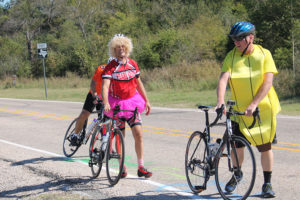 Gilbert Summers adorns a tutu and David Turner gets his peel on as a banana for the Farmersville Chamber of Commerce's annual Trick It Up Bike Ride Oct. 22. Additional photos and story page 5A.