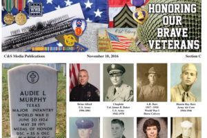 Each year hundreds of active duty personnel and their families sacrifice for our freedom. This section is The Farmersville Times' small way of showing our appreciation to local veterans and active duty personnel.