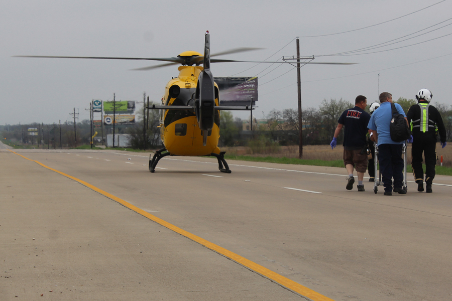 One airlifted in rollover accident