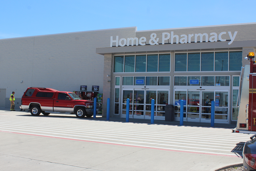 Truck drives into Walmart bollards
