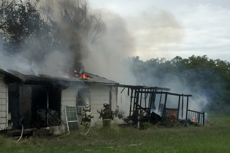 Arson suspected in Princeton structure fire
