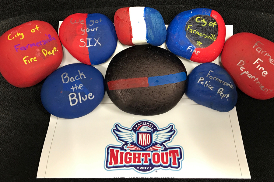 Rocks now hidden for National Night Out