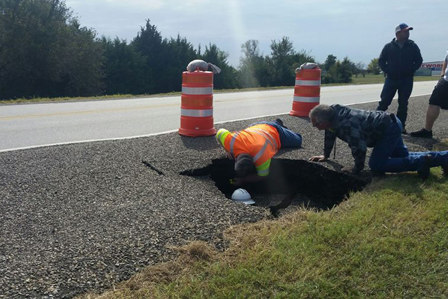 Sinkhole expected to cause traffic delay on Hwy. 78 in Copeville area