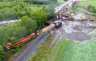 Deluge creates closures, train derailment