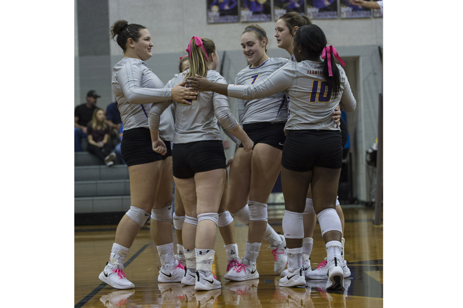 Lady Farmers finish first round atop District 13-4A