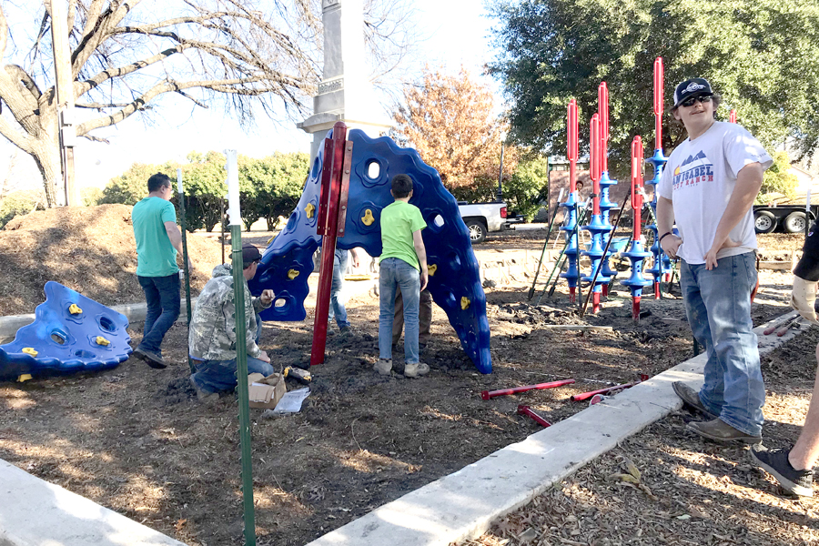 Eagle Scout project sets new park equipment