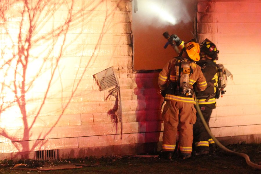 Video: Firefighters fight fire before annual celebration