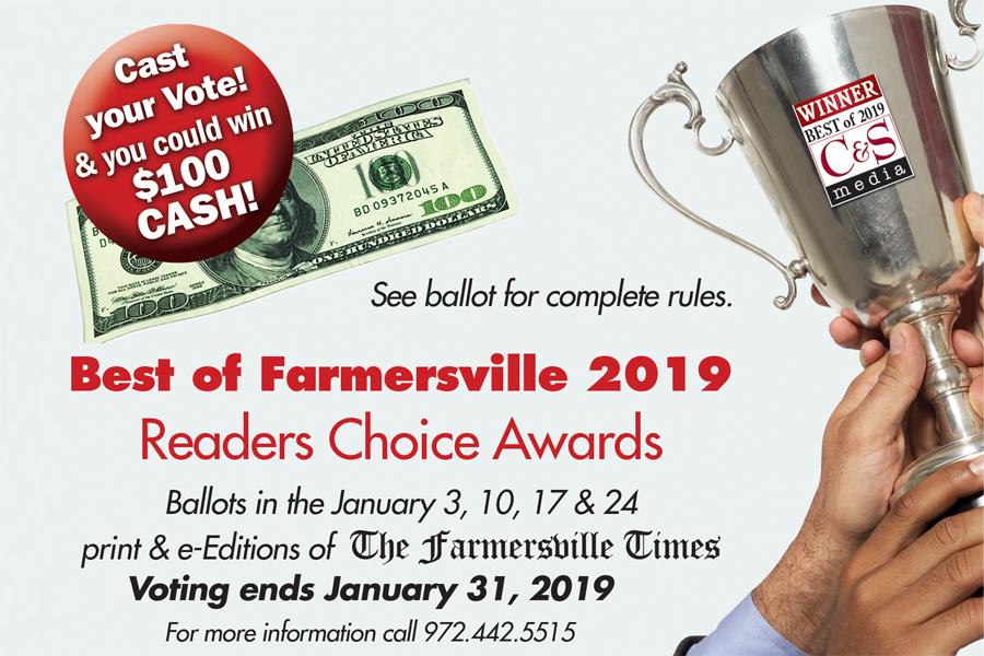 Best of Farmersville ballot now online
