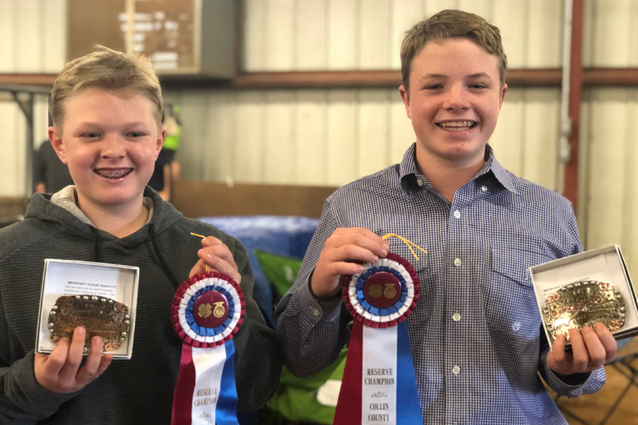 Students competed well at county ag show