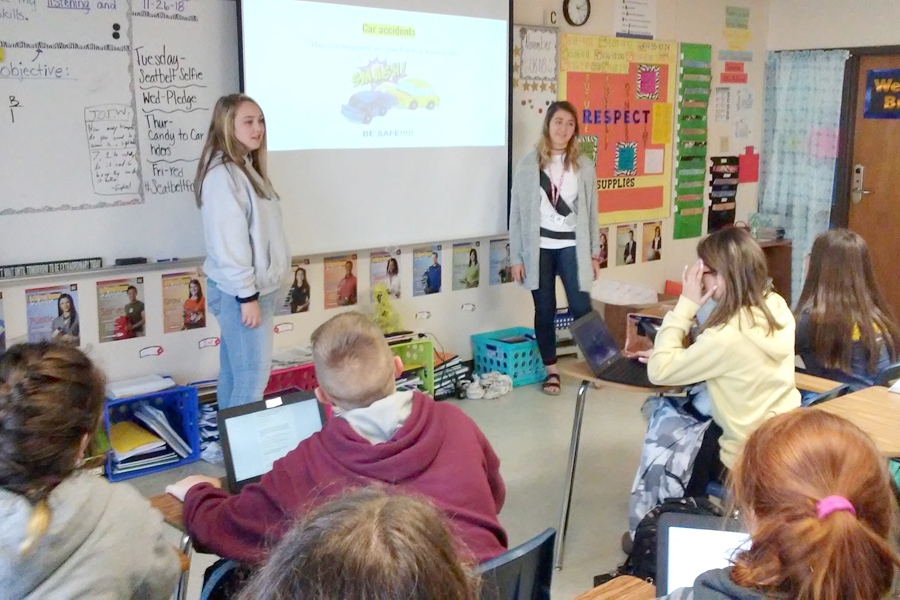 Students teach students to buckle up
