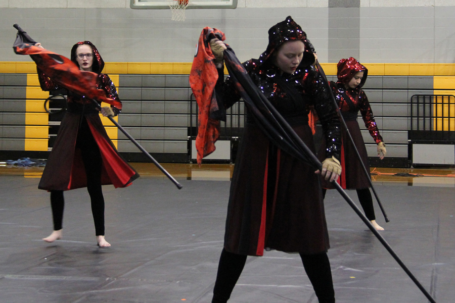 Video: Winter Guard, Drumline wows crowd