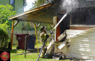 Fire damages home of former librarian