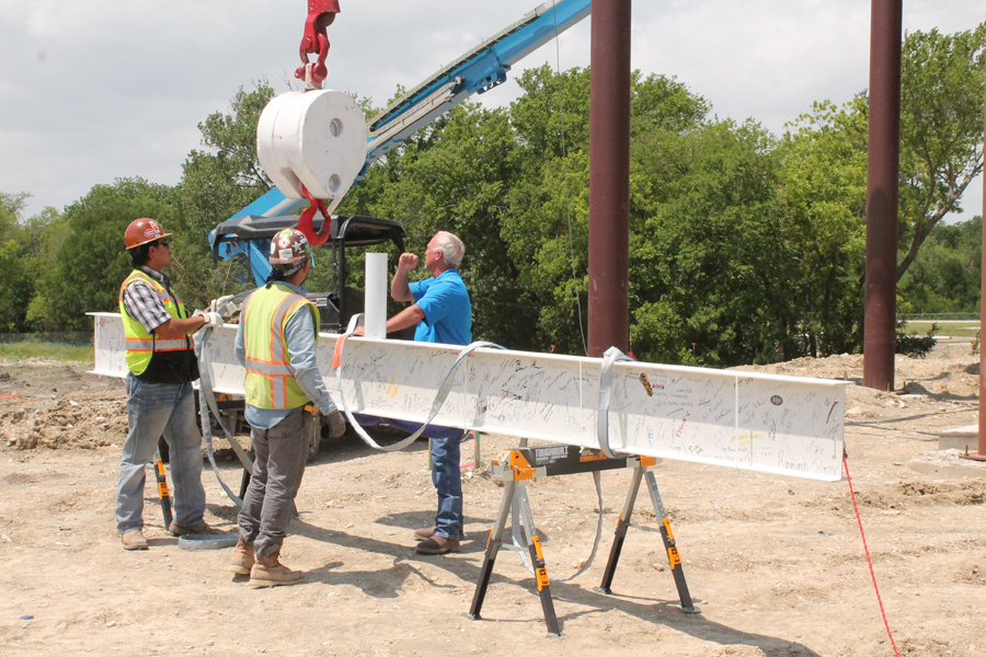 Topping out held at Collin College Wylie campus construction site