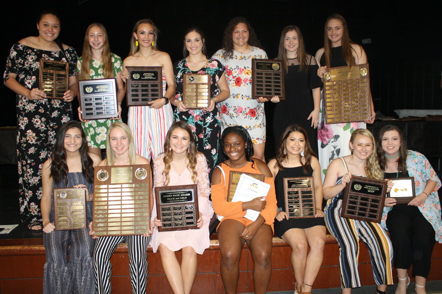 Athletes presented honors in spring awards banquet