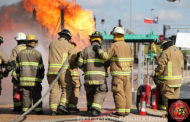 Sparking memories: Firefighters participate in statewide municipal fire school