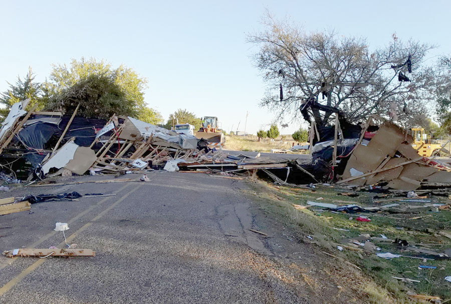 Storms leave path of destruction