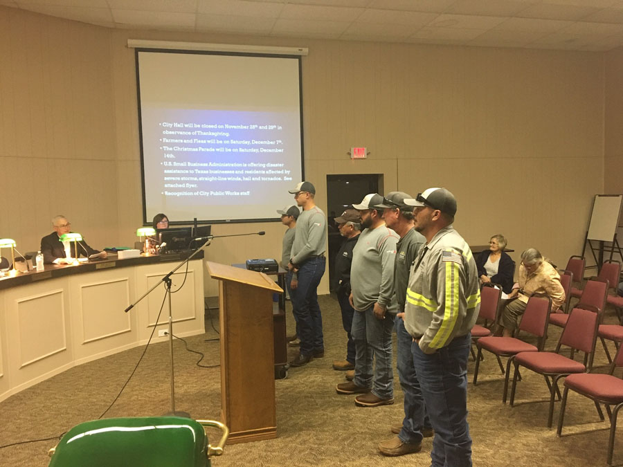 Public Works employees recognized by city