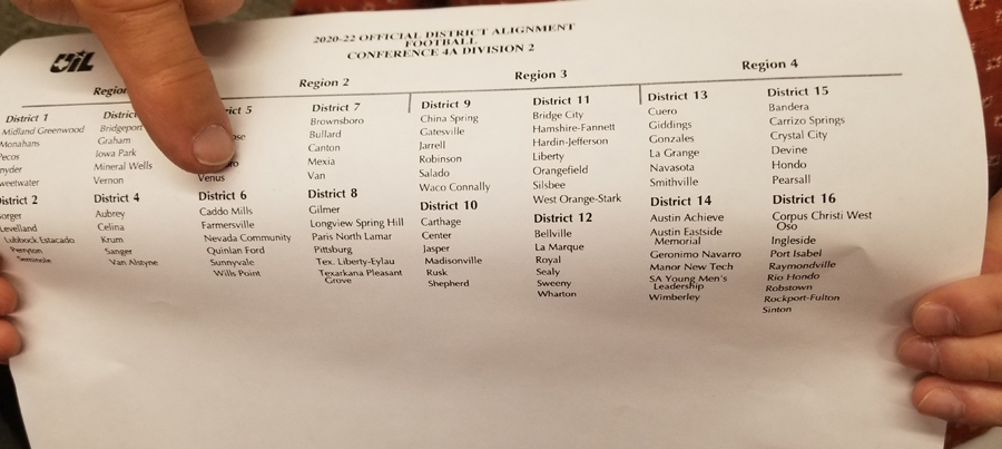 UIL releases districts for next two years