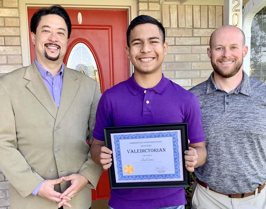 FJHS valedictorian, salutatorian named