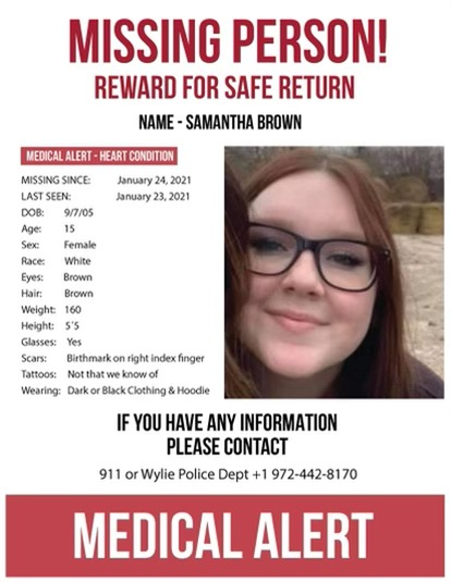 Wylie police continue to search for teen