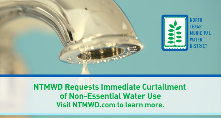 North Texas Municipal Water District asking for immediate reduction in water use